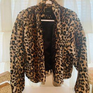 Leopard Sherpa Jacket Forever 21